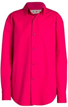 Marni Long-Sleeve Polo Shirt