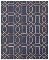 "Jaipur City Area Rug - Nazarine Blue/Bluestone Chains, 3'6"" x 5'6"""