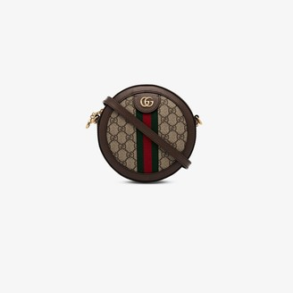 Gucci beige and brown Ophidia GG mini canvas round shoulder bag