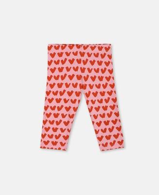 Stella McCartney Kids Hearts Cotton Leggings, Unisex