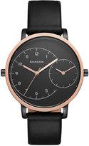 Skagen Women's Automatic Black Leather Strap Watch 36mm SKW2475