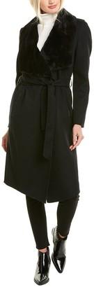 Mackage Sybil Wool & Leather Coat