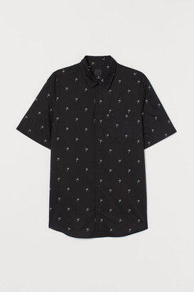 H&M Regular Fit Cotton Shirt - Black