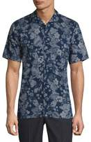 The Kooples Short Sleeve Floral-Print Shirt