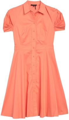 DKNY Front Button Short Sleeve Shirt Dress