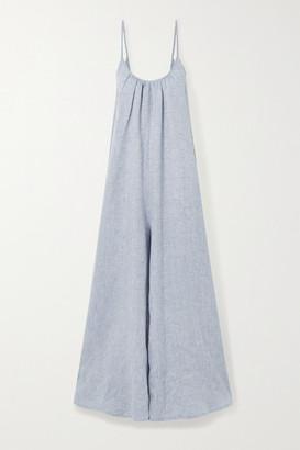 POUR LES FEMMES Linen Jumpsuit - Stone