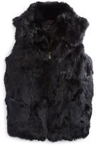 Surell Girls' Collared Fur Vest - Sizes S-XL