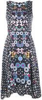 Peter Pilotto geometric handkerchief hem dress - women - Silk/Polyester/Acetate - 6