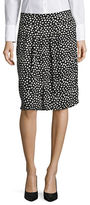 Kasper Suits Abstract Dot Printed A-line Skirt