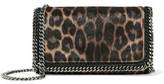Stella McCartney Chain-Trimmed Leopard-Print Faux Calf-Hair Clutch