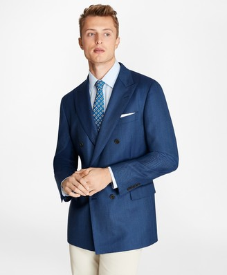 Brooks Brothers Regent Fit Herringbone Double-Breasted Blazer