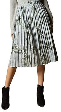 Ted Baker Estie Highland Jersey Pleated Midi Skirt