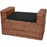 Beachcrest Home Kianna Upholstered Storage Bench Color: Dark Brown
