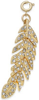 INC International Concepts Gold-Tone Crystal Feather Charm, Only at Macy's