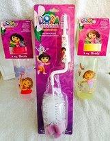 Dora the Explorer (3 Pc) Licensed Infant Bottle & Brush Set