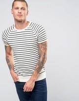 Scotch & Soda Scotch and Soda Striped Short Sleeve Sweatshirt