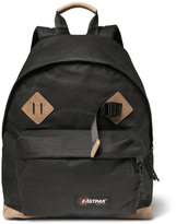 Eastpak Padded Pak'r® Leather-Trimmed Canvas Backpack