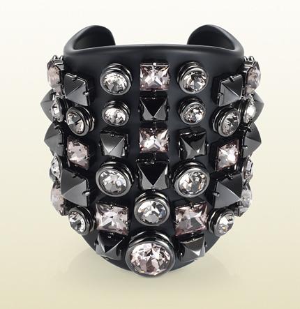 Gucci Plexiglass Cuff With Crystal Studs