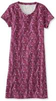 L.L. Bean Ultrasoft Nightgown, Short-Sleeve Floral