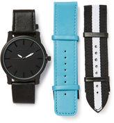 Perry Ellis Matte Black Watch Gift Set