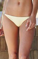 La Hearts Ribbed Tie Side Bikini Bottom