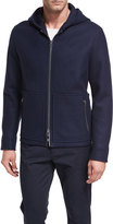 Vince Full-Zip Virgin Wool Hooded Jacket