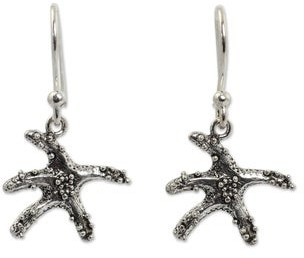 Novica Sterling Silver Ocean Angel Earrings