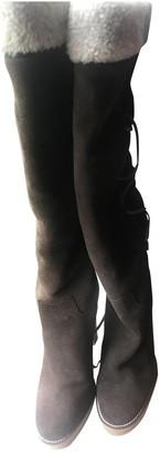 Ralph Lauren Brown Suede Boots