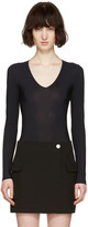 Maison Margiela Black V-neck Bodysuit