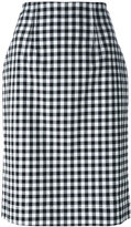 Blumarine gingham check pencil skirt - women - Cotton/Spandex/Elastane - 46