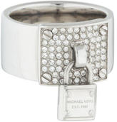 Michael Kors Pavé Crystal Plaque Padlock Ring