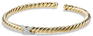 David Yurman X Bracelet with Diamonds in Gold