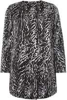 Marina Rinaldi Tango zebra print coat