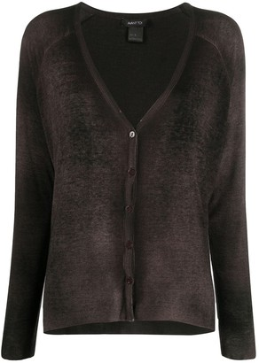 Avant Toi Deep V-Neck Cardigan