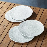 Crate & Barrel Porto Embossed Salad Plates Set of Four