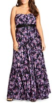 City Chic Helena Printed Maxi Dress