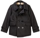 Urban Republic Mix Media Fleece Lined Peacoat Jacket (Toddler Boys)