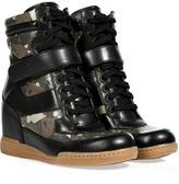Marc by Marc Jacobs Black/Army Leather Wedge Sneakers