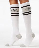 Calvin Klein Women's Logo Striped Knee-High Socks