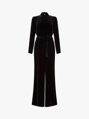 Ghost Esther Silk Velvet Jumpsuit