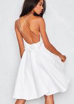 Missy Empire Leiko White Multicolour Strap Dress