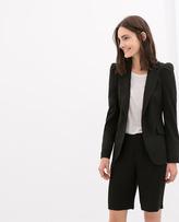 Zara Blazer With Gathered Shoulders