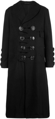 Yohji Yamamoto big button loofah coat