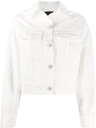Pinko Cropped Denim Jacket