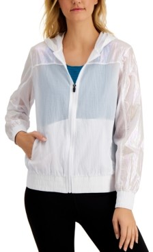 Ideology Iridescent Hooded Jacket, Created for Macy's