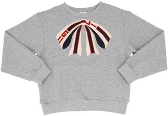 Gucci Cotton Sweatshirt W/ Embroidered Bow