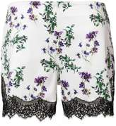 Blumarine floral print lace shorts