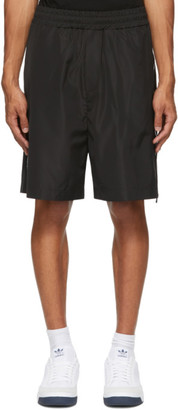McQ Black Swallow Zip Shorts