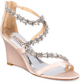 Badgley Mischka Bennet Strappy Wedge Evening Sandals