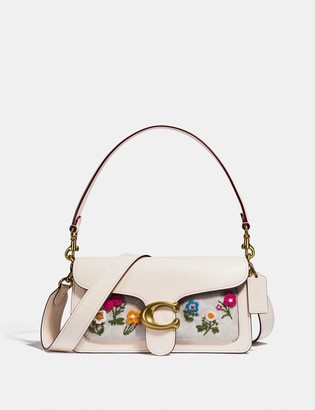 Coach Tabby Shoulder Bag 26 In Signature Canvas With Floral Embroidery